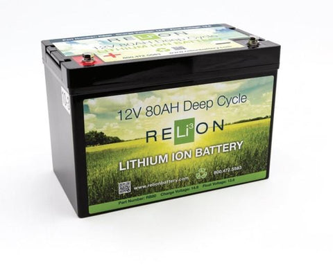 RELiON RB80 12V 80Ah Lithium Deep-Cycle RV Battery - Campervan HQ