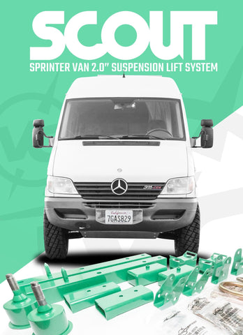 "MERCEDES SPRINTER 2500/3500 VAN (2001-2006) 2.0"" SUSPENSION LIFT SYSTEM (FRONT & REAR) - Campervan HQ - 1"