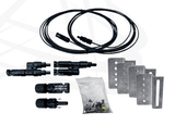 Solar Panel Hardware and Cabling in Samlex 100W RV Solar Kit - Campervan HQ