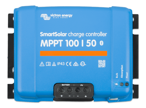 Victron SmartSolar Charge Controller MPPT 100/50 Top View - Campervan HQ