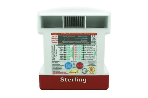 Sterling BB1230 Ultra Pro Battery-to-Battery Charger (12V, 30A) Front View- Campervan HQ