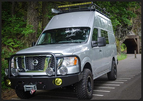 Nissan NV Winch-Compatible Front Bumper - Campervan HQ