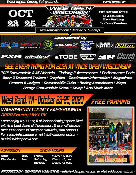 Wide Open Wisconsin Powersports Show & Swap