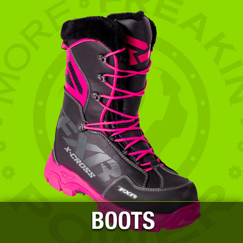 snowmobile boots and snowmobile apparel