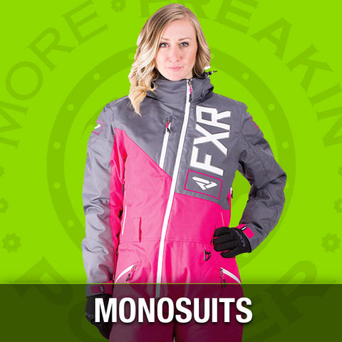 snowmobile monosuits and snowmobile gear