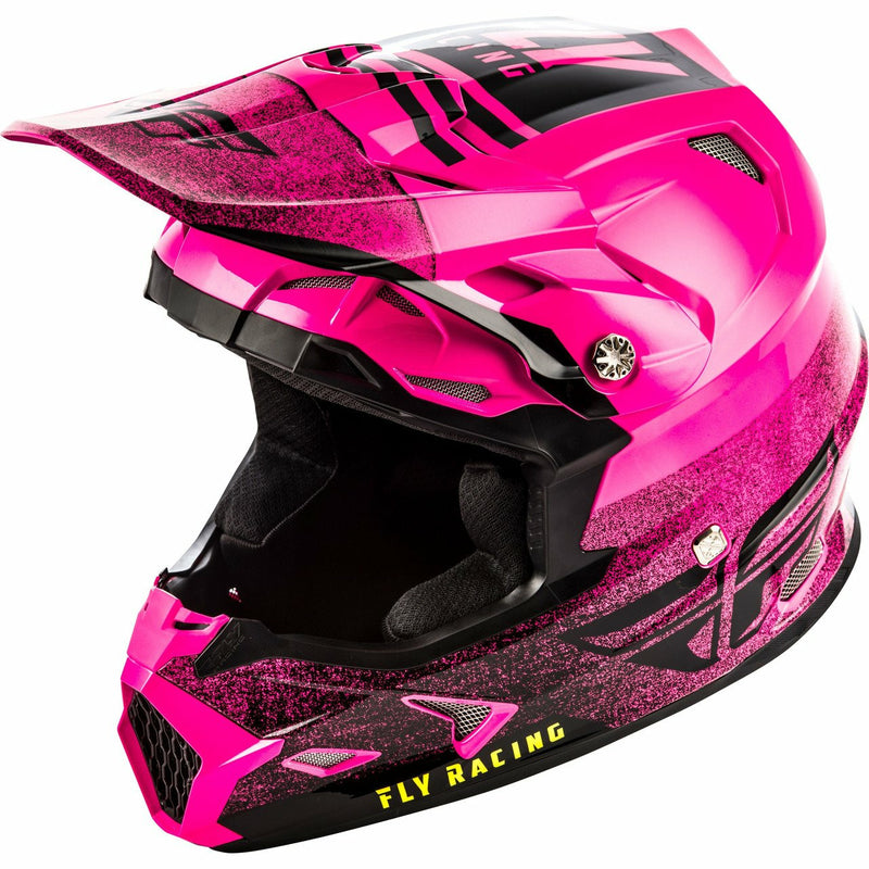 Fly Racing Toxin MIPS Embargo Motocross Helmet Helmet Fly Racing NEON PINK/BLACK 2X
