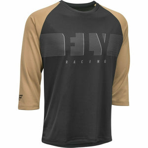 Fly Racing Ripa 3/4 Sleeve Jersey 21 Fly Racing 2021 Black/Khaki 21 2X