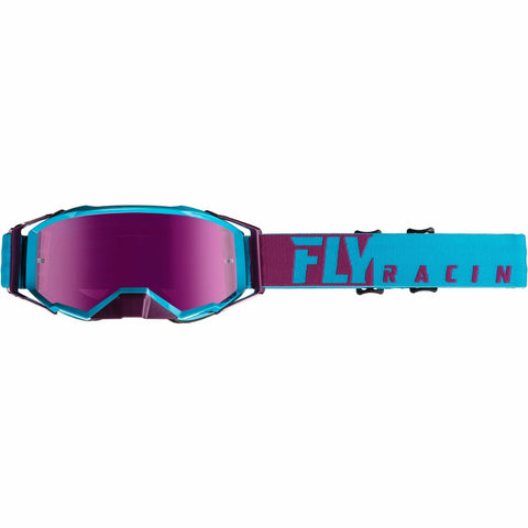 Fly Racing 2019 Zone Pro Goggle Goggles Fly Racing PURPLE/LIGHT BLUE W/PINK MIRROR LENS