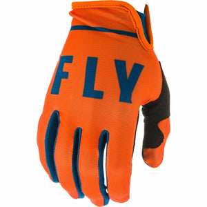 Fly Racing Youth Lite Gloves Fly Racing Off-Road Orange/Navy 4