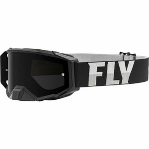 Fly Racing Zone Pro Goggle 21 Fly Racing 2021 Black/White W/Dark Smoke Lens W/Post 21