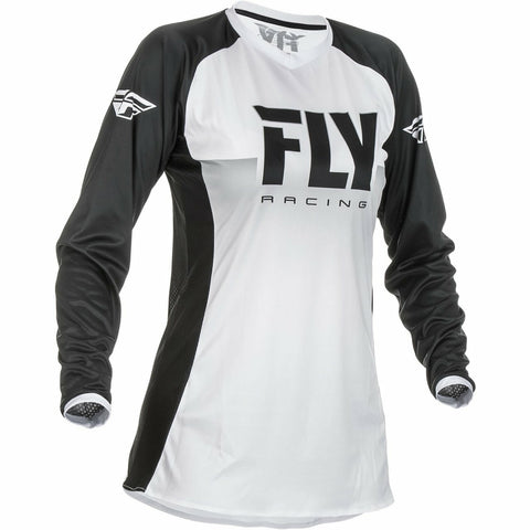 Fly Racing Women's Motocross Lite Jersey Jersey Fly Racing WHITE/BLACK 2X