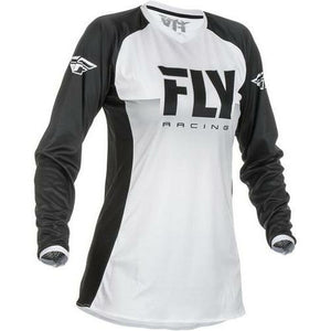 Fly Racing Woman's Lite Jersey Jersey Fly Racing White/Black Youth Small