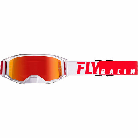 Fly Racing 2019 Zone Pro Goggle Goggles Fly Racing RED/WHITE W/RED MIRROR LENS