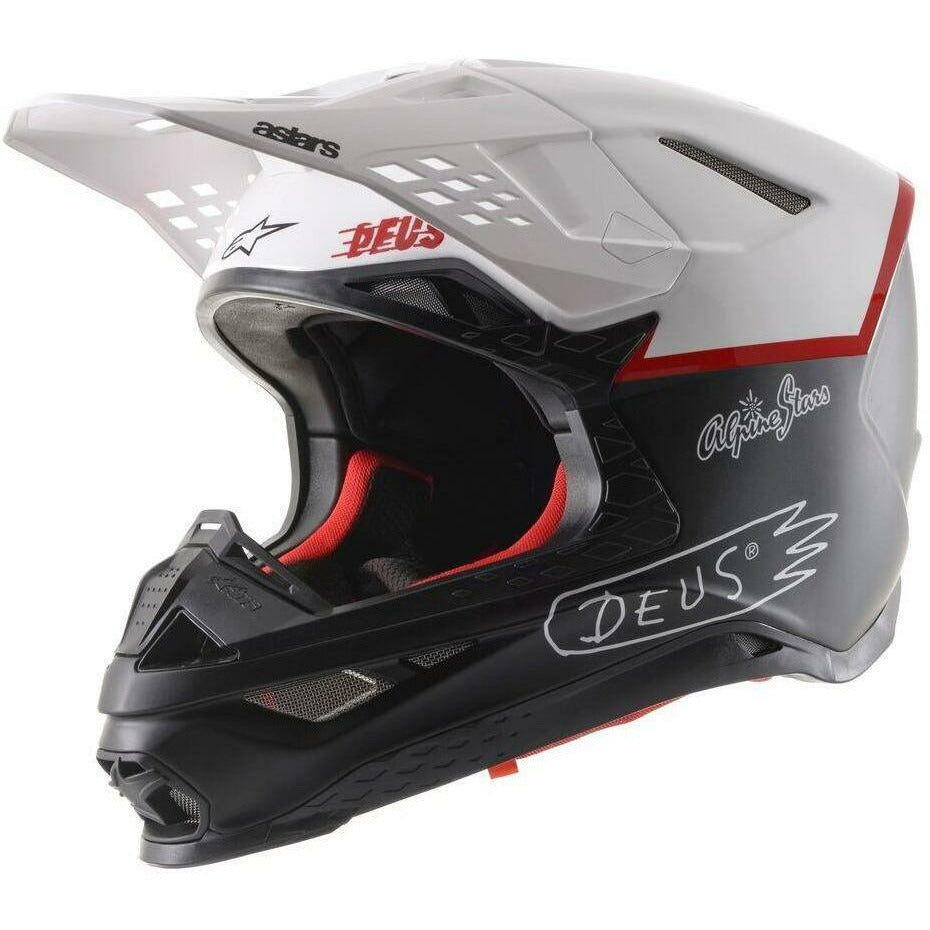 Alpinestars S-M8 X Deus20 Helmet Helmet ALPINESTARS BLACK/WHITE/DEEP RED 2XL