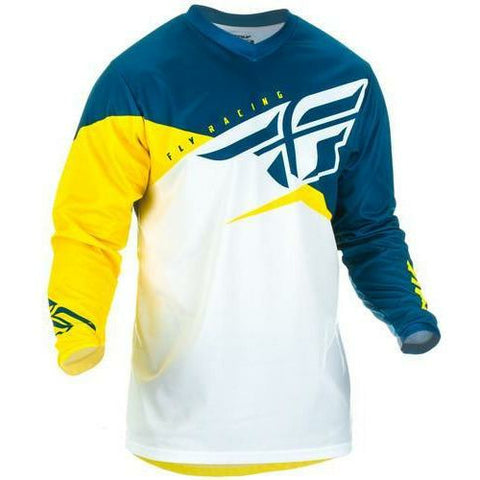 Fly Racing F-16 Jersey Jersey Fly Racing Yellow/White/Navy Youth X-Large
