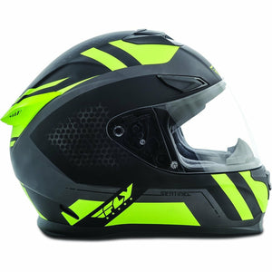 Fly Racing Sentinel Mesh Street Helmet Helmet Fly Racing BLACK/HI-VIS XS