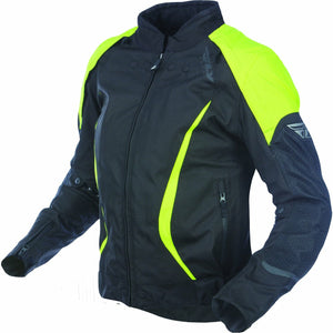 Fly Racing Women's Motocross Butane Jacket Jacket Fly Racing BLACK/YELLOW 3X