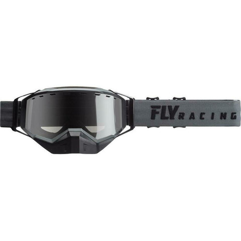 Fly Racing 2019 Zone Snow Goggle Goggles Fly Racing Grey W/ Silver Mirror Smoke