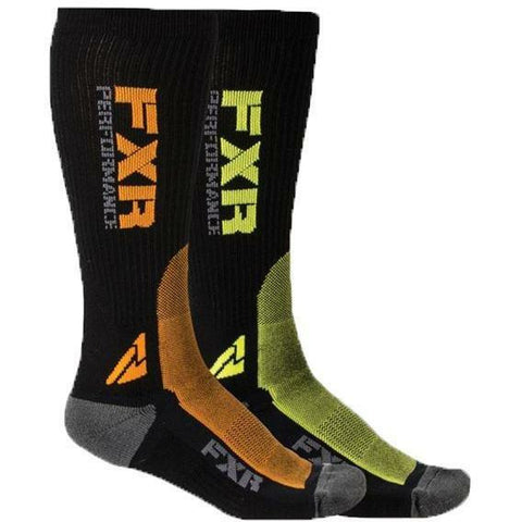 FXR Multi Color Turbo Athletic Socks Footwear FXR