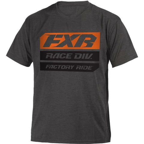 FXR Race Division Youth T-Shirt 2020 T-Shirt FXR 2020 Char Heather/Orange S