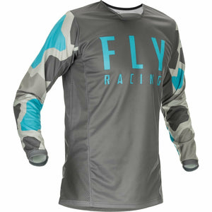 Fly Racing Youth Kinetic K221 Jersey 21 Fly Racing 2021 GREY/BLUE YL
