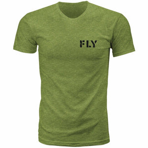 Fly Racing Military Tee 21 Fly Racing 2021 MILITARY GREEN HEATHER 2X