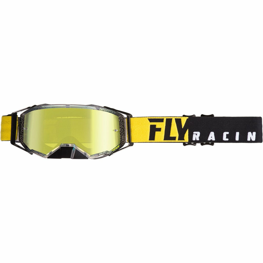 Fly Racing 2019 Zone Pro Goggle Goggles Fly Racing BLACK/YELLOW W/GOLD MIRROR LENS