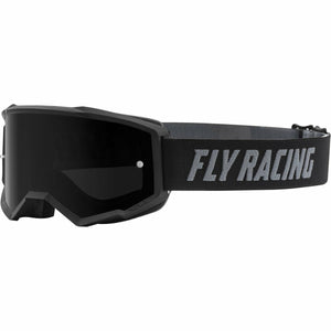 Fly Racing Zone Youth Goggle 21 Fly Racing 2021 Black W/Dark Smoke Lens W/Post 21