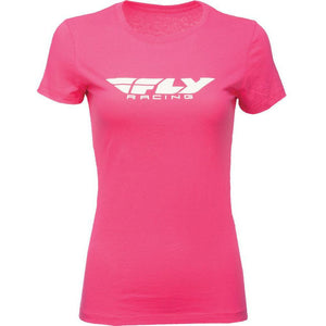 Fly Racing Women's Corporate Tee T-Shirt Fly Racing RASPBERRY 2X