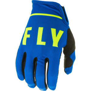 Fly Racing Youth Lite Gloves Fly Racing Off-Road Blue/Black/HI-Vis 4