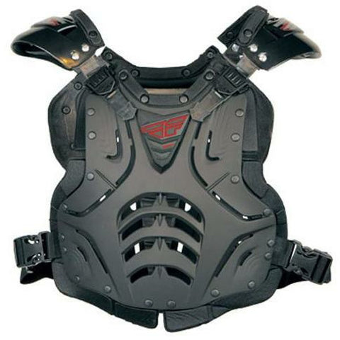 Fly Racing Convertible II Adult/Junior Roast Guard Body Armor Fly Racing MATTE BLACK ADULT