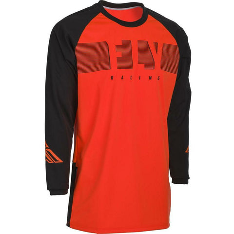 Fly Racing Windproof Jersey Jersey Fly Racing Orange/Black SM