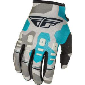 Fly Racing Youth Kinetic K221 Gloves 21 Fly Racing 2021 GREY/BLUE 4