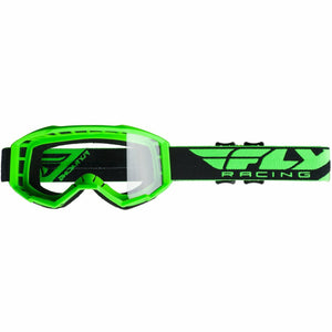 Fly Racing 2019 Focus Goggle Goggles Fly Racing HI-VIS GREEN W/CLEAR LENS ADULT