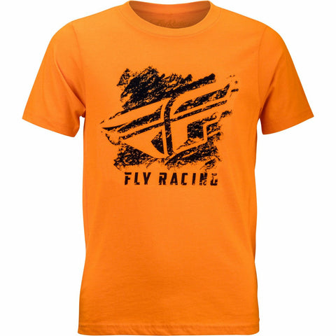 Fly Racing Boy's Crayon Tee T-Shirt Fly Racing ORANGE YL