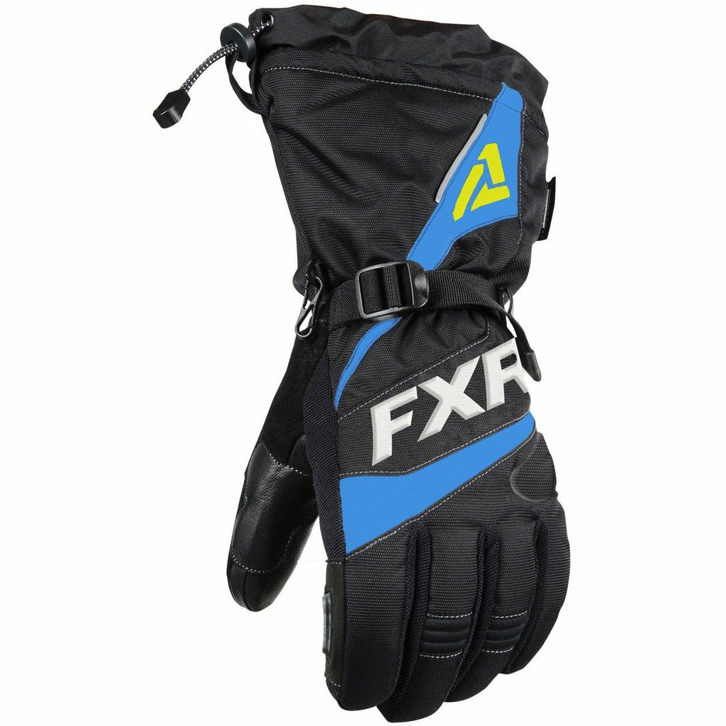 FXR Fuel Mens Glove 2020 Gloves FXR Black/Blue/Hi Vis XS