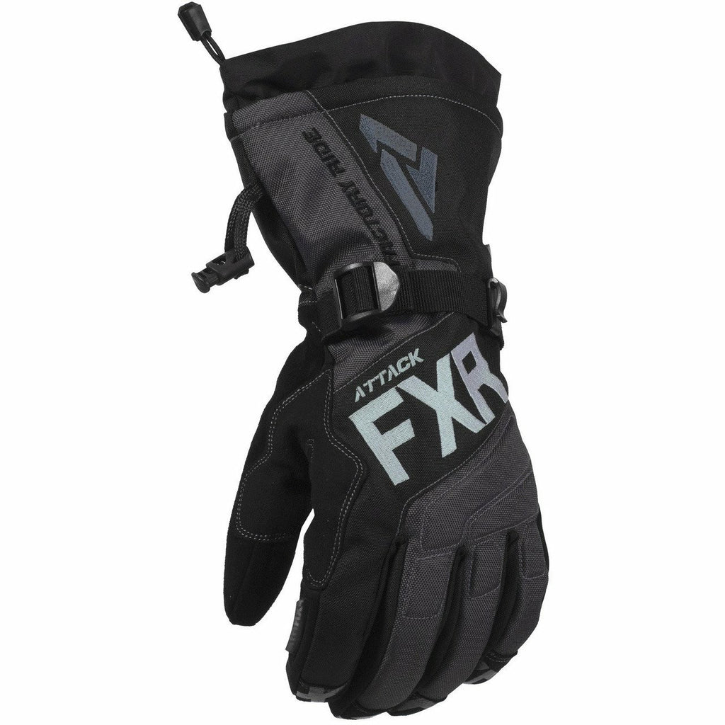 FXR Attack Lite Mens Gauntlet Glove 2020 Gloves FXR Black/Char XXS