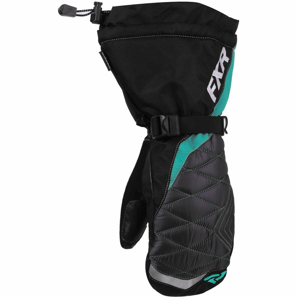 FXR Fusion Women's Mitt 2020 Gloves FXR Black/Mint XS