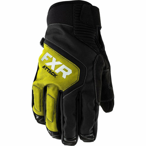 FXR Attack Lite Mens Glove 2020 Gloves FXR Black/Hi Vis XXS