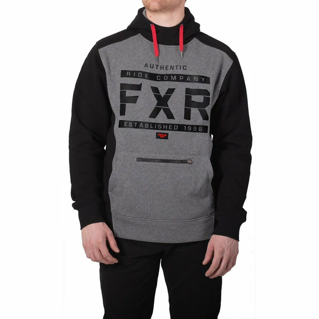 FXR Authentic Mens Pullover Hoodie 2020 Casual FXR Black/Grey Heather S