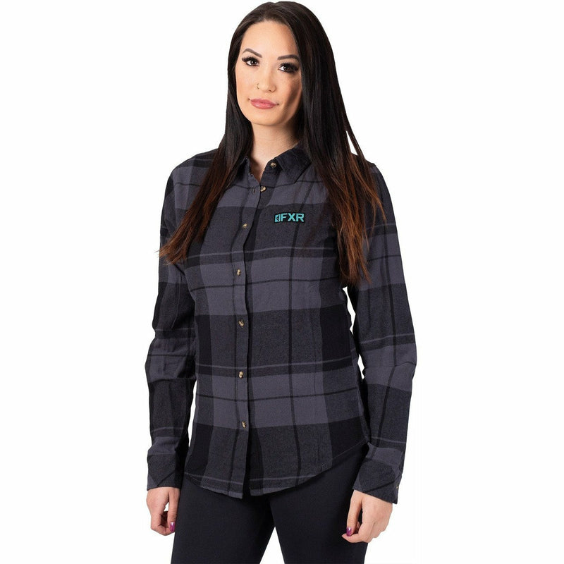 FXR Track Plaid Women's Shirt 2020 Casual FXR Black/Grey XS