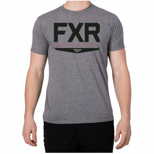 FXR Helium Mens T-Shirt 2020 Casual FXR Grey Heather/Black S