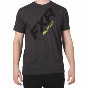 FXR CX Mens T-Shirt 2020 Casual FXR Char Heather/Hi Vis S