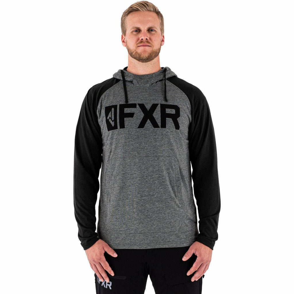 FXR Trainer Lite Tech Mens Pullover Hoodie Casual FXR Char Heather/Black S