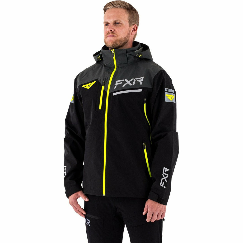 FXR Renegade Men's Tri-Laminate Jacket Jacket FXR Black/Hi Vis S