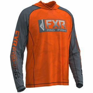 FXR M Strike UPF Lite Pullover Hoodie 20 Casual FXR OFFROAD Orange/Steel 2XL