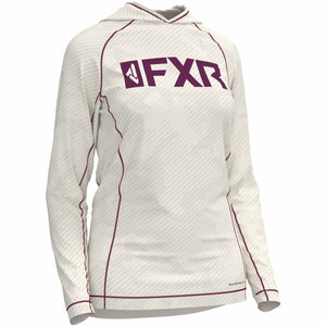 FXR W Attack UPF Lite Pullover Hoodie 20 Casual FXR OFFROAD Bone/Wineberry 2XL
