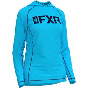 FXR W Attack UPF Lite Pullover Hoodie 20 Casual FXR OFFROAD Sky Blue/Navy 2XL