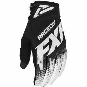FXR Factory Ride Adjustable MX Glove 20 Gloves FXR OFFROAD Black/White S