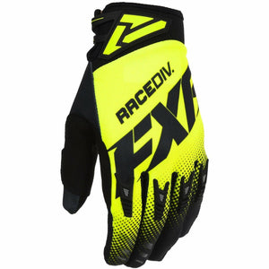 FXR Factory Ride Adjustable MX Glove 20 Gloves FXR OFFROAD Black/Hi Vis S